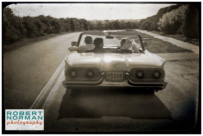 weekapaug-golf-club-rhode-island-wedding-vintage-car-thunderbird
