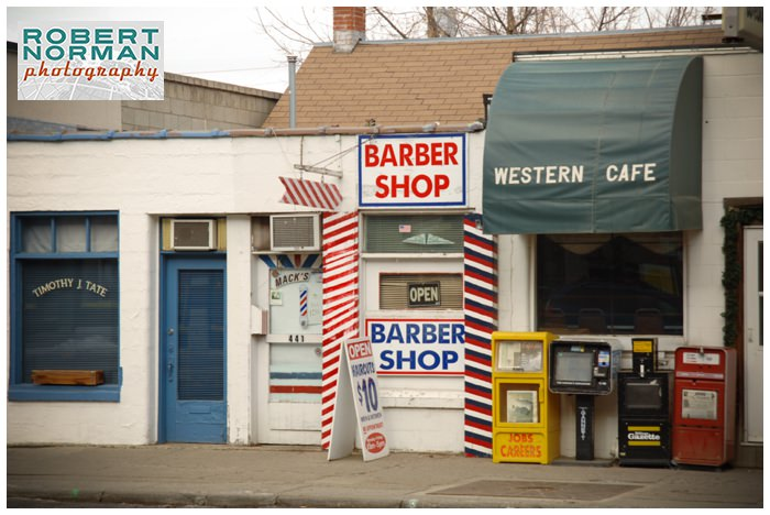 Bozeman-montana--Yellowstone-national-park-winter-vintage-signage-barber-shop