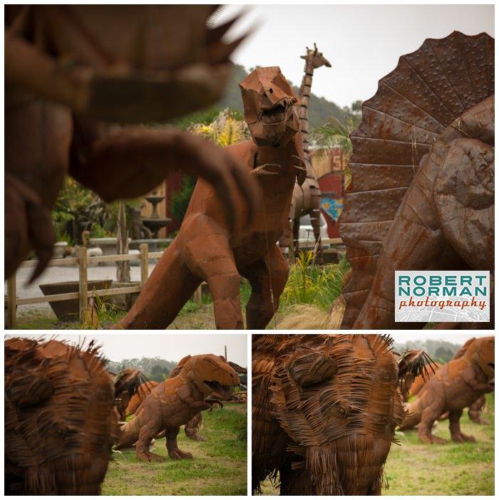 steel-sculpture-dinosaurs-rusty
